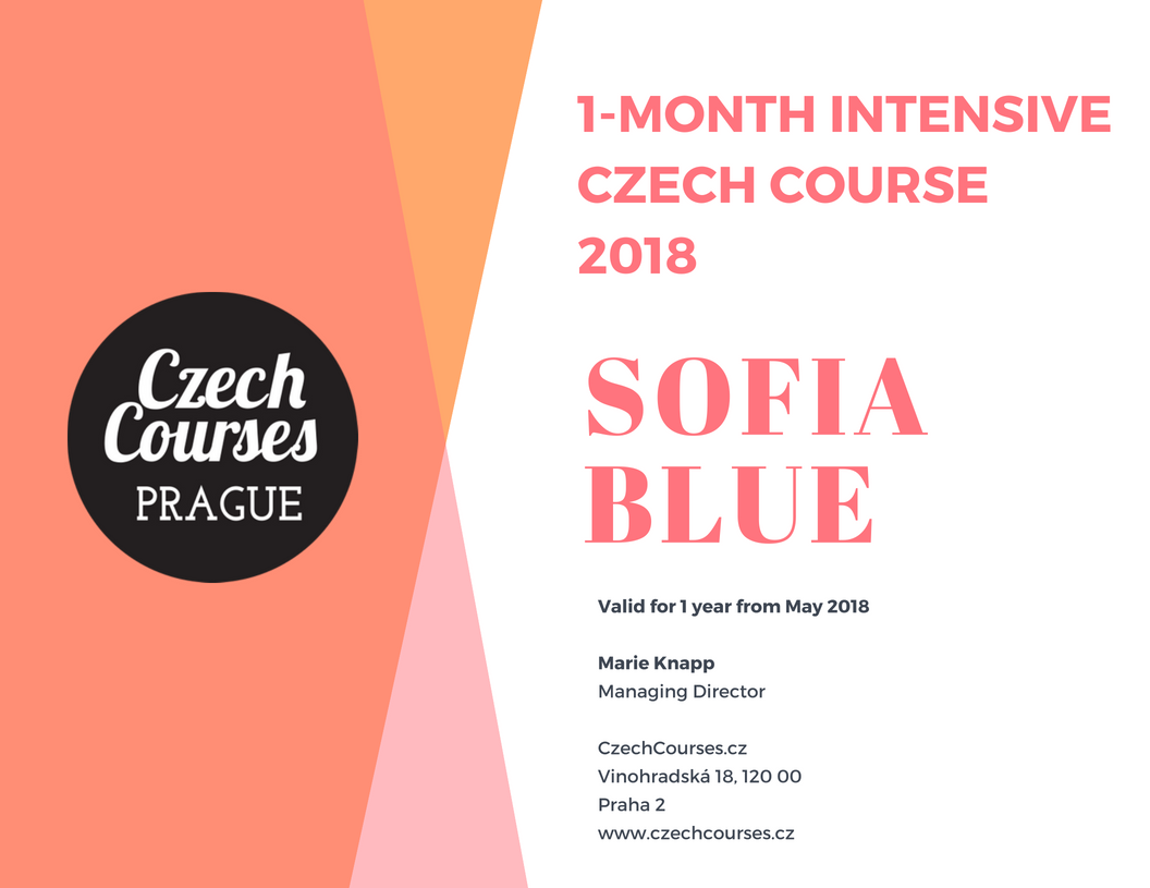 CzechCourses.cz Voucher